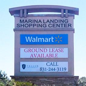 Marina Landing pylon signage