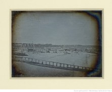 [Paysage de bord de mer : habitations et plage] : [photographie] / Hippolyte Fizeau --1841