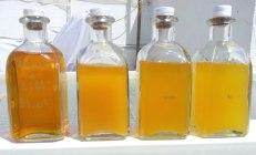 Varias recetas en decantación – colodión húmedo