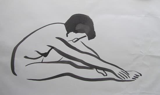 Modelo del natural. Dibujo a tinta. 4 Pintors, Barcelona