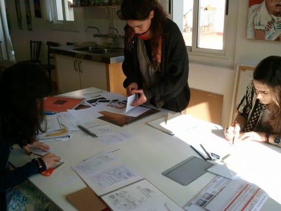 Preparación de la maqueta de un cuento ilustrado