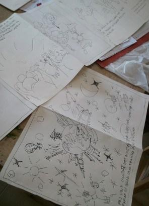 Il·lustracions a tinta alumne del taller d'il·lustració