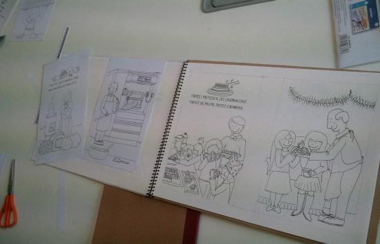 Cuento infantil sobre cocina. Alumno del Taller de 4 Pintors Barcelona