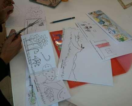 Proceso de realización de un cuento para niños. Curso 4 Pintors