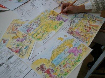 Cuento para niños. Hacer las ilustraciones. Clases en Barcelona
