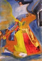Obra colorista en acrílic. Taller de 4 Pintors