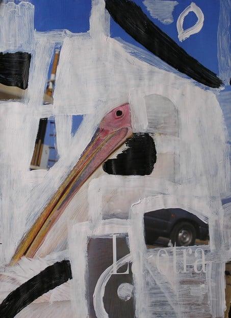 Pez-pájaro. Clase de foto y pintura en BCN