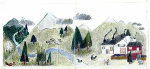 Trabajo de alumno de clases de ilustración. Taller 4 Pintors, Barcelona