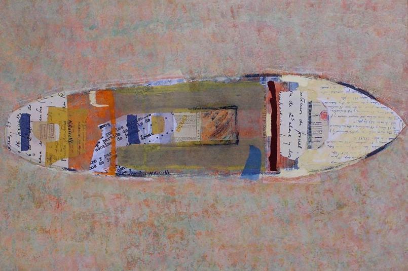 AREA. Pintura acrílica, collage, pastel. Nuria Balcells. Escuela 4 PINTORS Barcelona