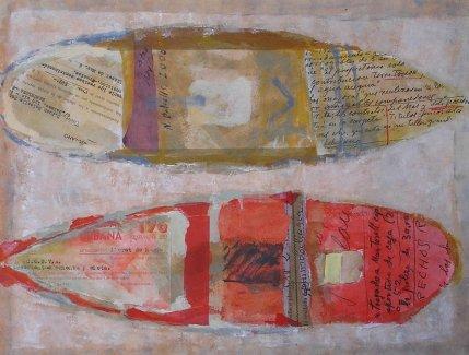 Pintura en técnica mixta de Nuria Balcells. Escuela de arte TALLER DE 4 PINTORS