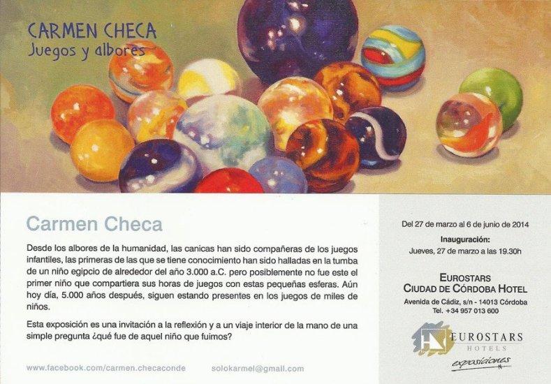 CANICAS. Exposición Carmen Checa. Taller de 4 Pintors