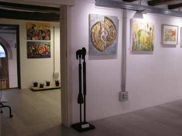 Parte de la expo colectiva en Mezanina. Clases de Dibujo y Pintura en Barcelona