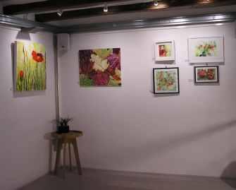 Taller 4 Pintors. Obras en Galería Mezanina. Clases de Pintura y Dibujo Barcelona