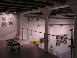 Vista de la muestra de 4 Pintors. Mezanina. Clases de Arte en Barcelona