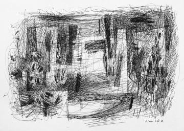 3. LANDSCAPE. Sketch. 29,7x42 cm. Drawing school in Barcelona