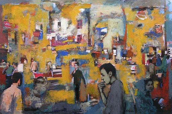 Clase de pintura sobre foto en Barcelona