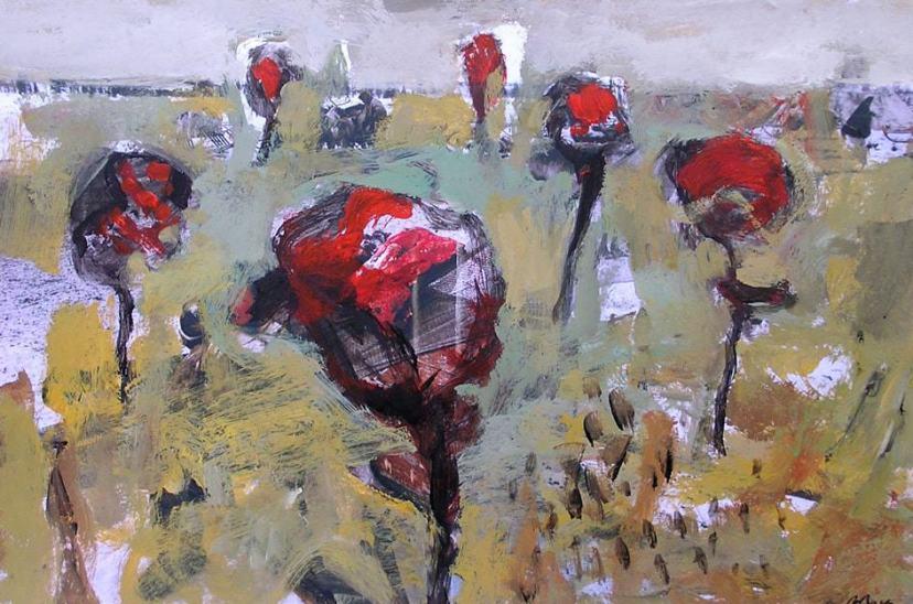 Classes de tècniques de pintura. Barcelona. Les roses de Sant Jordi