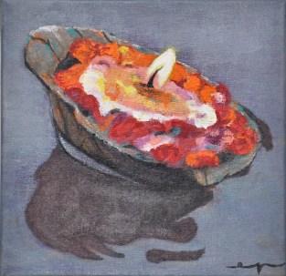 Esther Puig. Acrílic/tela. Tècniques de pintura, classes a Barcelona