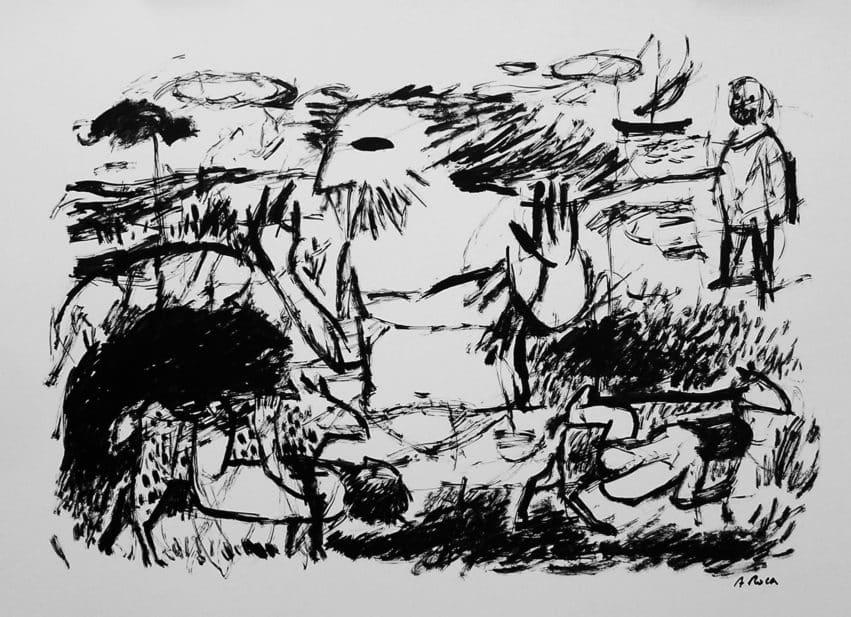 L'Odissea. Apunt a tinta Agustí Roca