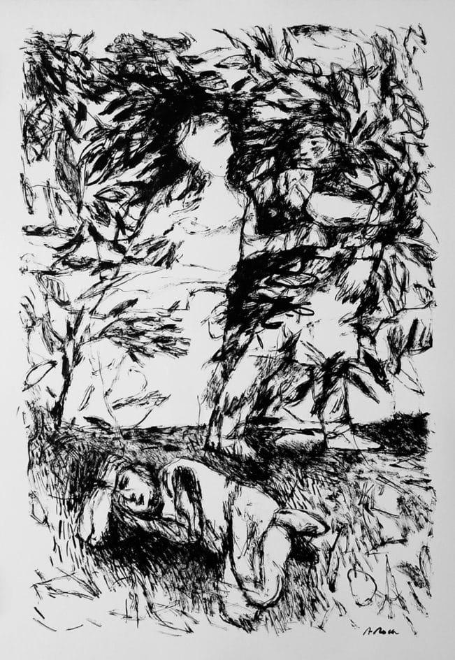 Il·lustració a tinta. Agustí Roca. Barcelona