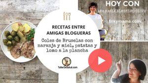 Video-Receta: Coles de Bruselas con naranja y miel, patatas y lomo [Receta de Ana María Almendro]