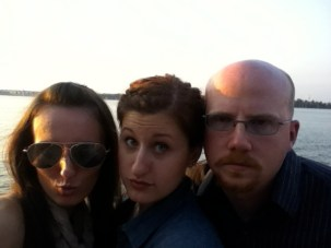 Working on our badass faces after driving all over Kentucky to conquer the Bourbon Trail.