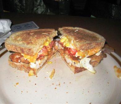 Eric's walleye baconator sandwich:)
