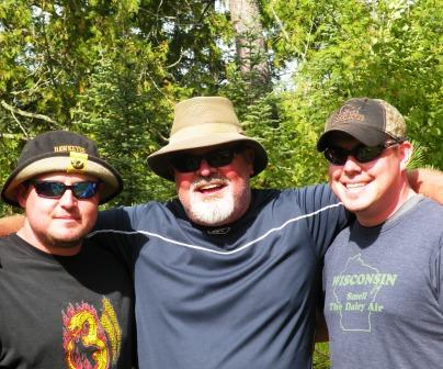 Frank, Frank and Tyler together at Tall Pines Camp for the first time!