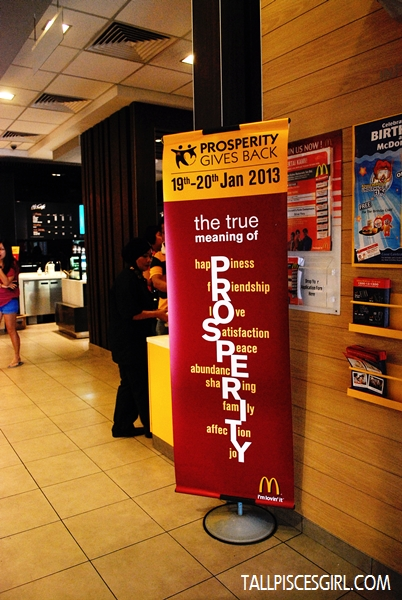 McDonald's Prosperity Gives Back