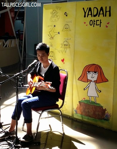 Talented young boy who plays guitar and sings
