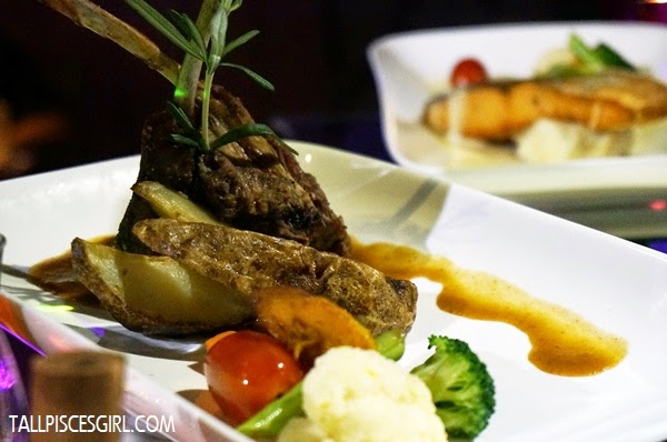 Grilled Lamb Rack - Served with seasonal vegetables & rosemary sauce (RM 28)