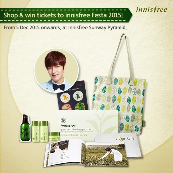 Shop & win tickets to innisfree Fiesta 2015! Lee Min Ho is coming to town!