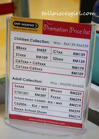 Dr. Kong Shoes Promotion Price List