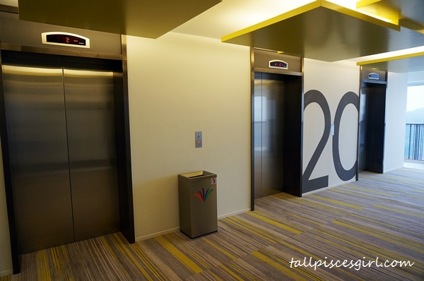The lift lobby with a fresh contemporary look