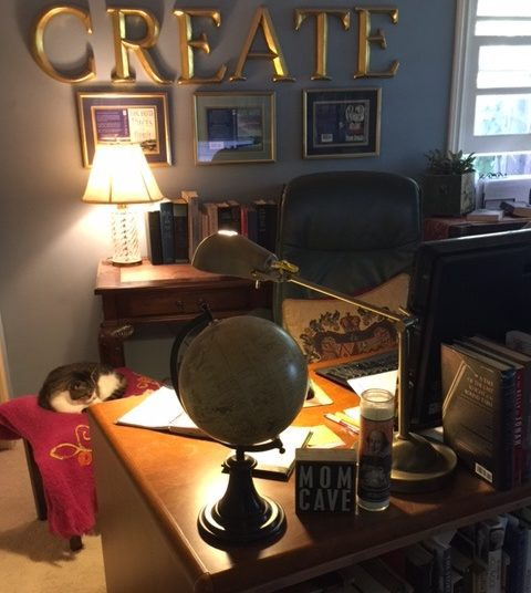 A peek into the writing cave of diane haeger tall poppy writers the first thing that greets people who find their way into the room tucked back in a corner of our home is my mom cave sign which was a gift from my m4hsunfo