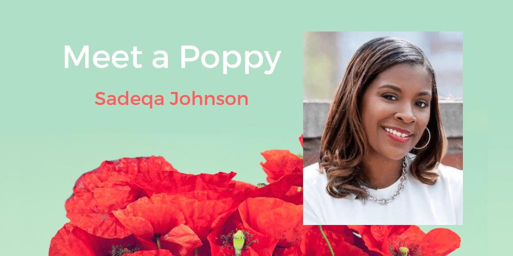 Meet a Poppy: Sadeqa Johnson