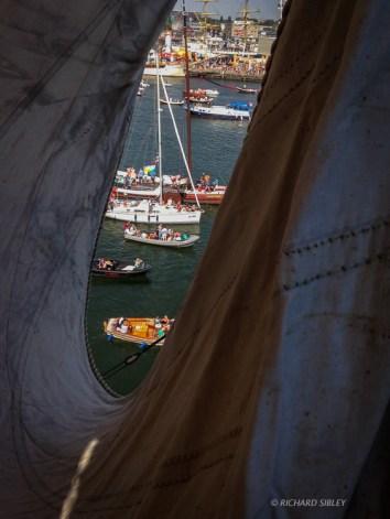 View through the Foch - Sail Amsterdam 2015