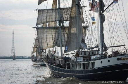 Dutch Barquentine Thalassa. Parade of Sail, Antwerp Tall Ships Race 2010