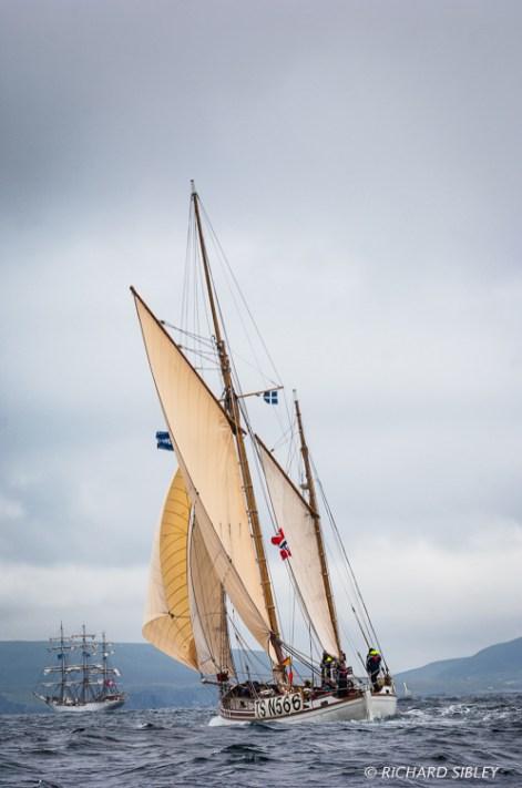 Norwegian,Gaff Ketch, Wyvern, Lerwick,