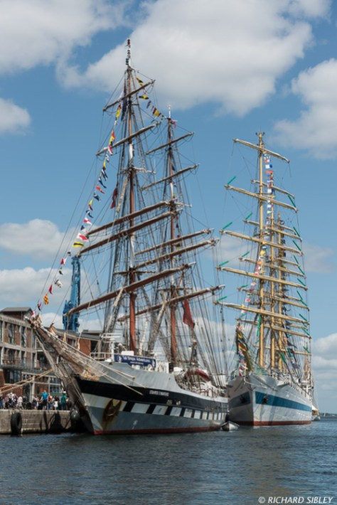 British Barque, Stavros S. Niarchos and Russian Full Rigger MIR