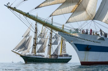 German Barque Alexander von Humboldt II and Russian Full Rigger MIR