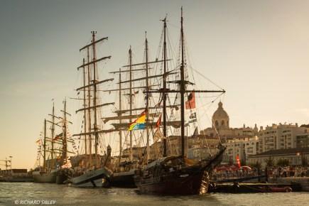 Ships from left to right, Alexander von Humboldt ll, Vera Cruz, Pogoria and Atyla
