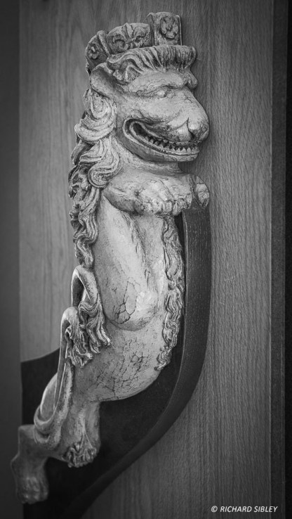 A bronze casting of the lion figurehead on the Swedish ship Gotheborg. Ships Carver, Andy Peters