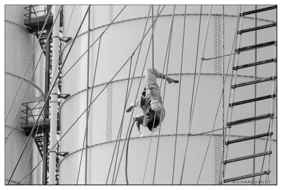 Acrobatics onboard Santa Maria Manuela