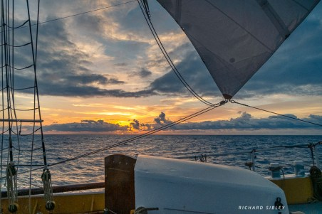 Sunset from the foredeck