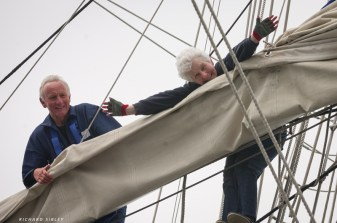The thrill of being aloft on a square rigger