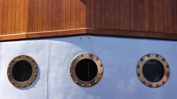 Port holes on the Earnslaw