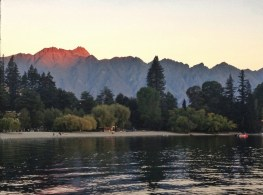 Setting sun touches the Remarkables