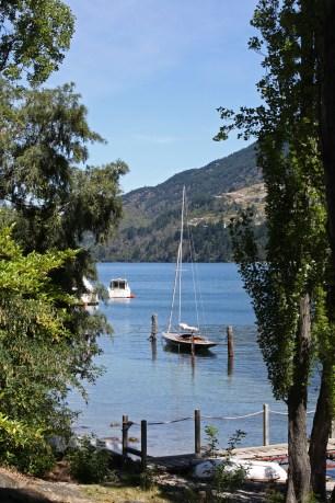 Moored yacht, Lake Wakatipu
