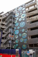 Mural by Pie Rats collective & BGI youth / James Smith carpark building / Lukes Lane / commissioned as part of an anti-graffiti initiative / 2012